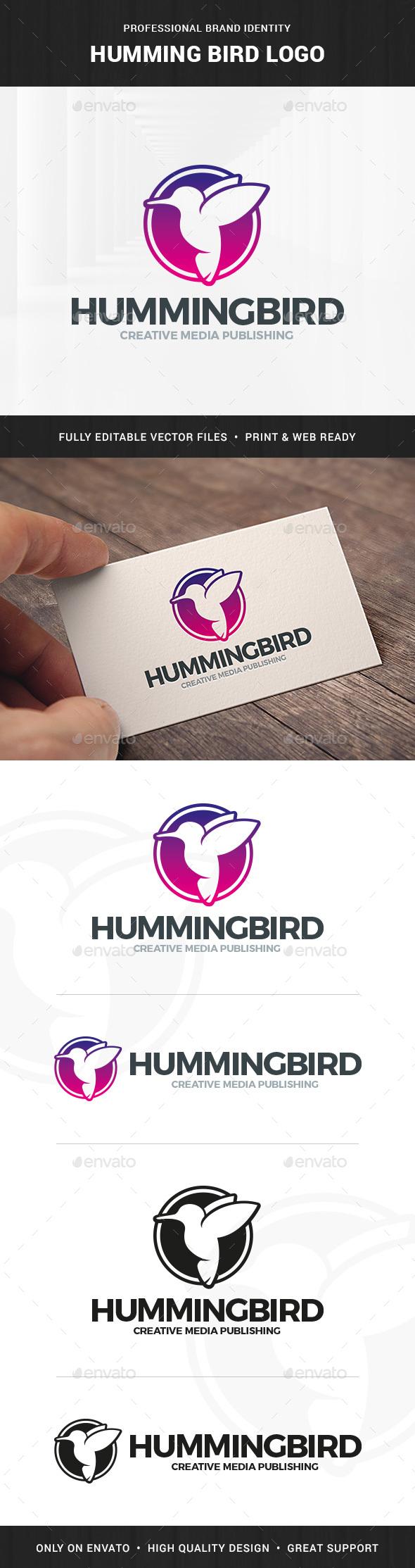 Humming Bird Logo Template - Animals Logo Templates