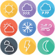 Weather and Forecast Flat Line Icons - GraphicRiver Item for Sale