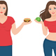 Fat and Slim Woman Before and After Weight Loss - GraphicRiver Item for Sale