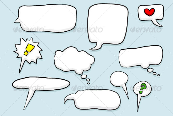 Word and Thought Bubbles - Miscellaneous Characters