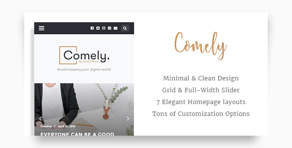 Comely – Responsive WordPress Blog Theme