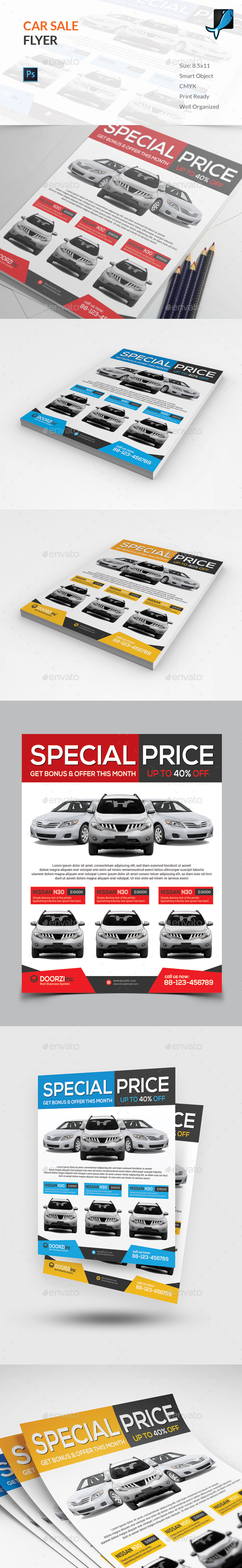 GraphicRiver  Car For Sale Flyer