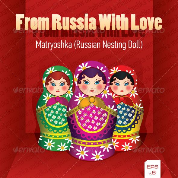 Russian Nesting Doll (Matryoshka) - Man-made Objects Objects