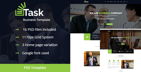 Task-Corporate Business PSD Theme - Business Corporate