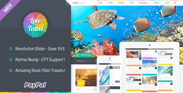 Love Travel - Creative Travel Agency WordPress - Travel Retail