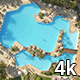 Man in Swimming Pool Aerial Photography - VideoHive Item for Sale