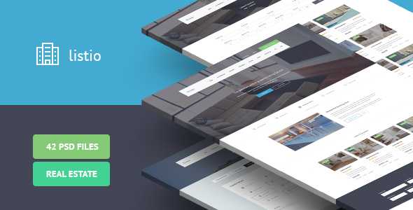 Listio – Real Estate PSD Template