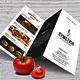 Simple Style A4 Trifold Menu - GraphicRiver Item for Sale