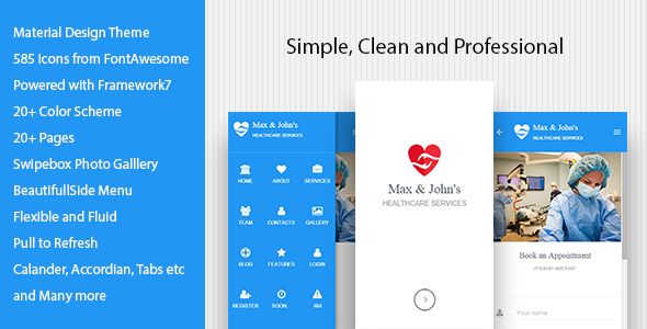 Max and John's – Mobile template