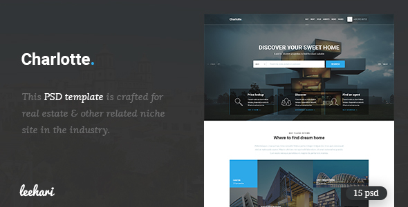Charlotte – Real Estate PSD Template
