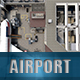 Airport Scene - 3DOcean Item for Sale