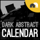 Dark Abstract Calendar - GraphicRiver Item for Sale