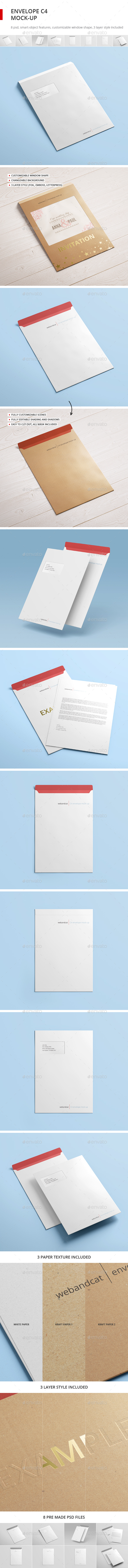 Envelope C4 Mock-up - Stationery Print