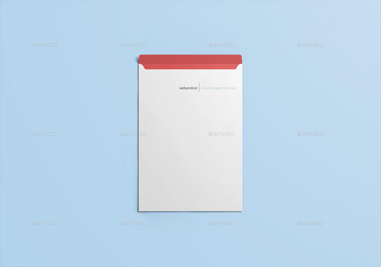 Envelope C4 Mock Up By Webandcat Graphicriver