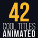 42 Cool Titles Animated - VideoHive Item for Sale