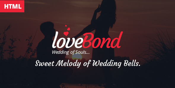 LoveBond One Page Wedding HTML Responsive Template - Wedding Site Templates