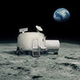 Moon Base With Earth In The Distance - VideoHive Item for Sale