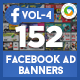Facebook Newsfeed Ad Banners Vol-4 - 152 Banners - GraphicRiver Item for Sale
