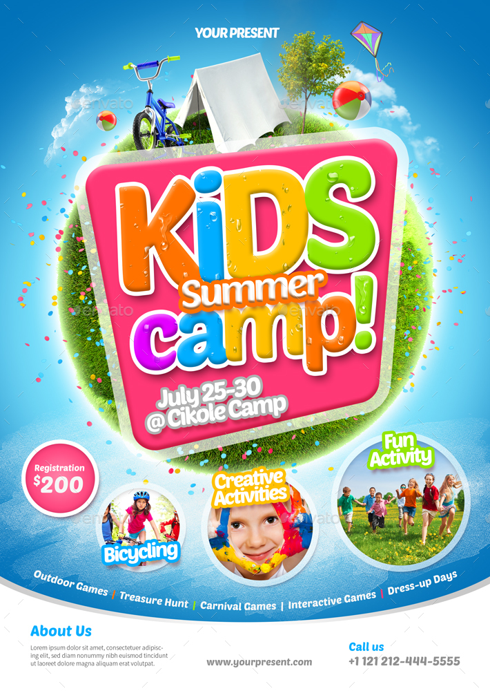Kids Summer Camp Flyer 2 By Monogrph | Graphicriver