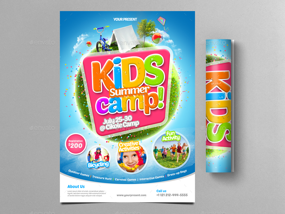 Kids Summer Camp Flyer  By Monogrph  Graphicriver