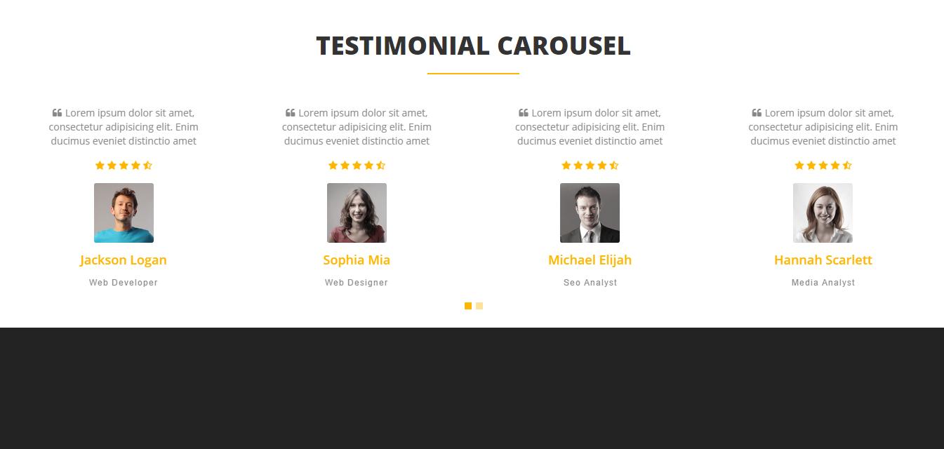 bootstrap 4 testimonial slider free download