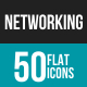 Networking Flat Multicolor Icons