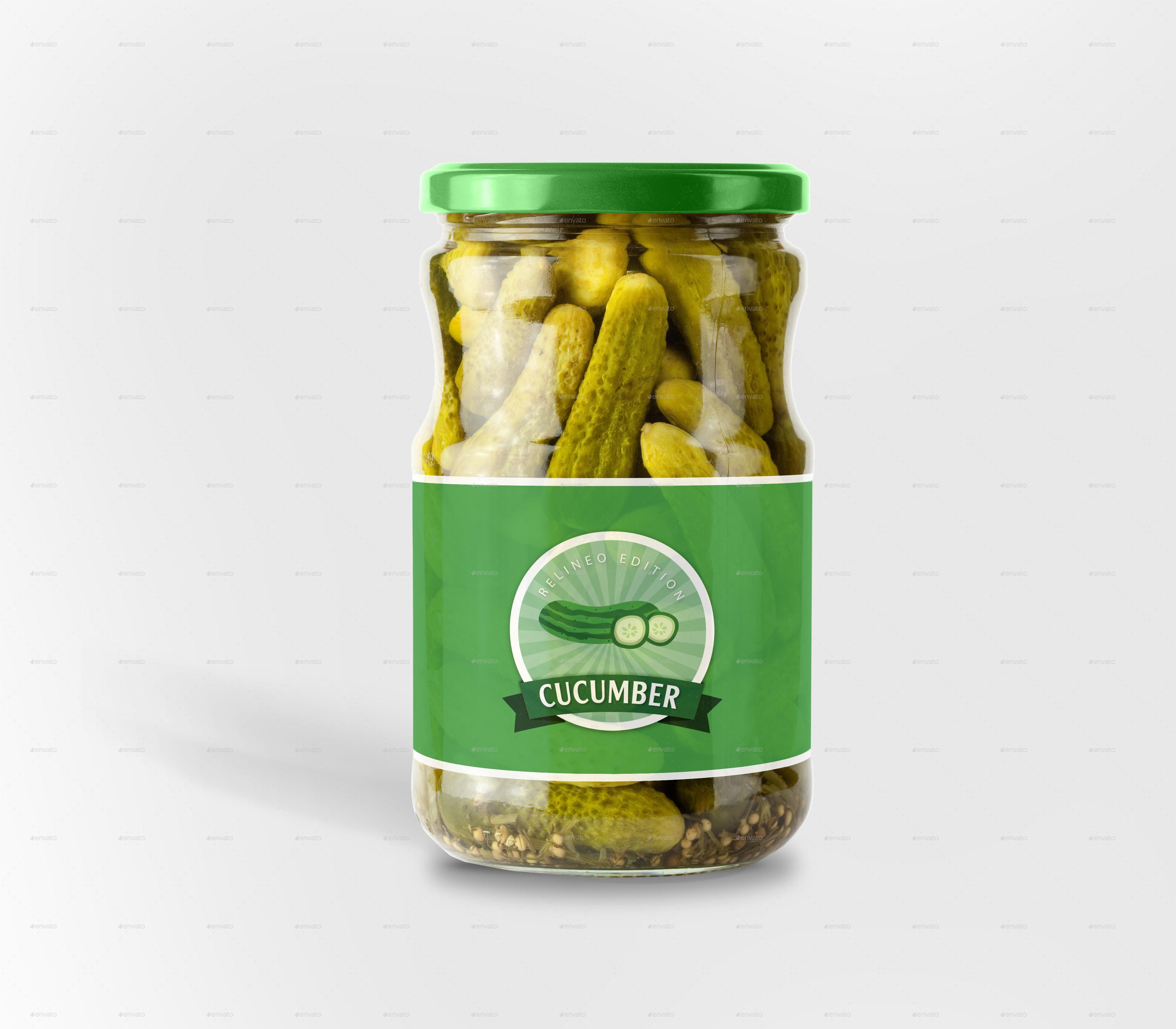 Jar Bottle Label Mock-up Bundle By Relineo
