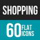 Shopping Flat Multicolor Icons