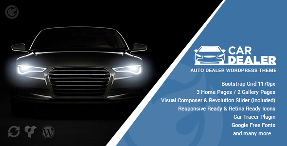 Car Dealer – Professional & Responsive WordPress Theme For Automotive