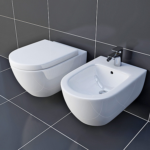 Toilet & Bidet Villeroy&Boch Subway - 3DOcean Item for Sale