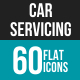 Car Servicing Flat Multicolor Icons