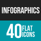Infographics Flat Multicolor Icons