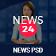 News 24 - News & Magazine PSD Template Nulled