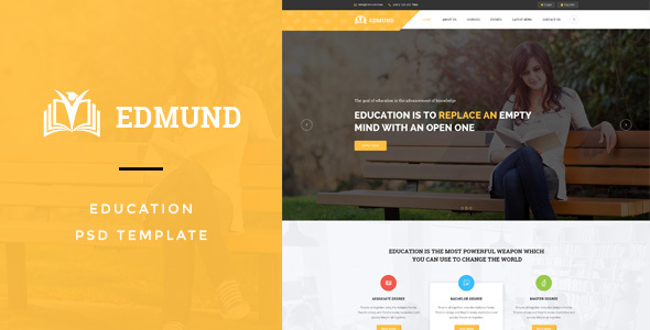 Edmund - Education PSD Template