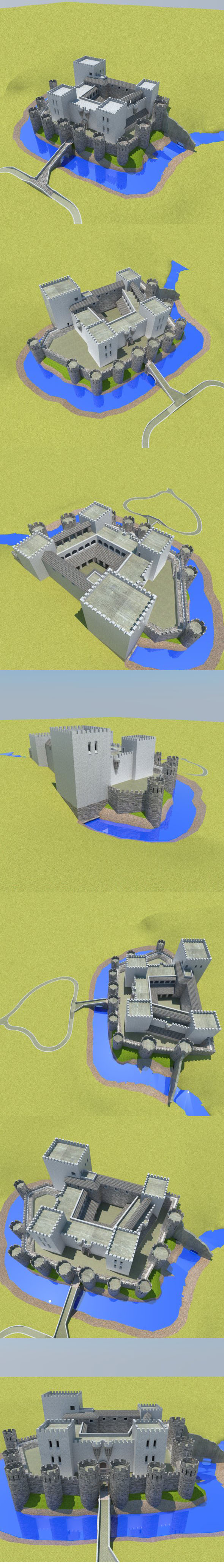 CASTLE low poly - 3DOcean Item for Sale
