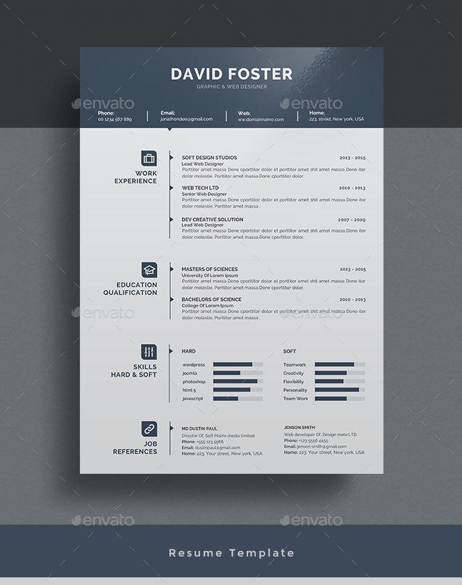 graphicriver modern resume template 2623