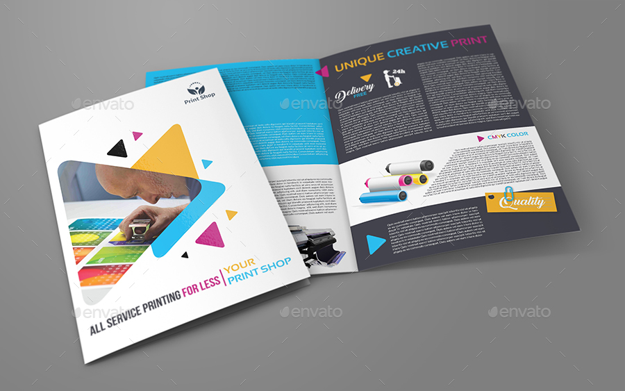 bi fold brochure design templates - print shop bi fold brochure template by owpictures