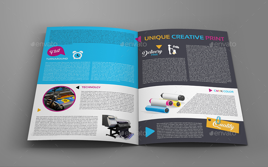 print shop bi fold brochure template
