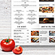 Simple Style A3 Poster Menu - GraphicRiver Item for Sale