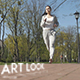 Young Female Athlete Jogging - VideoHive Item for Sale