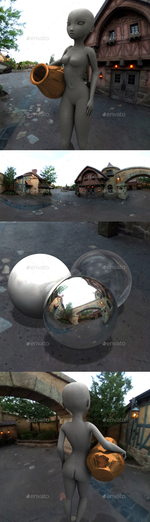 Fantasy Village Afternoon HDRI - 3DOcean Item for Sale