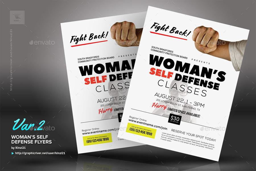 Woman S Self Defense Flyer Templates By Kinzi21 Graphicriver