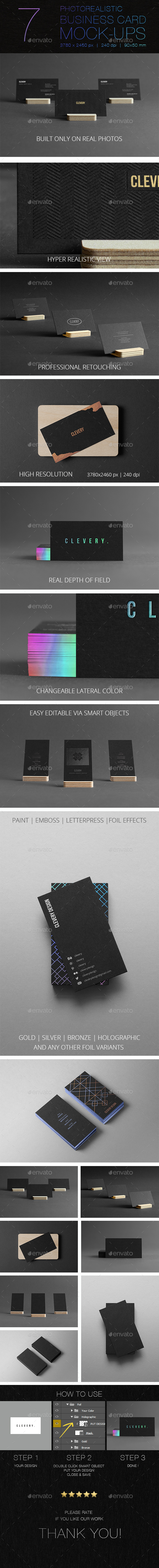 Photorealistic business cards mockup black edition by clevery photorealistic business cards mockup black edition business cards print magicingreecefo Image collections