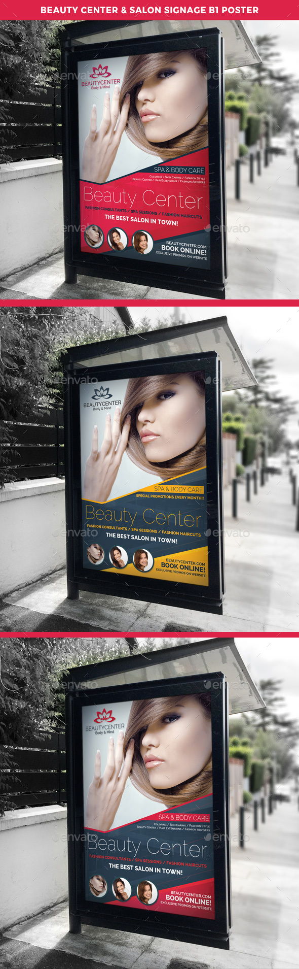 Beauty Center & Spa Signage B1 Poster Template - Signage Print Templates