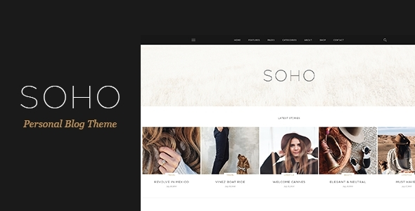 SOHO - Personal Blog Theme for Travelers and Dreamers - Personal PSD Templates