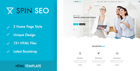 SPIN SEO - SEO & Business HTML Template! - Marketing Corporate