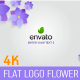Flat logo flower - 4K - VideoHive Item for Sale