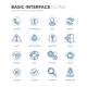 Blue Line Basic Interface Icons - GraphicRiver Item for Sale