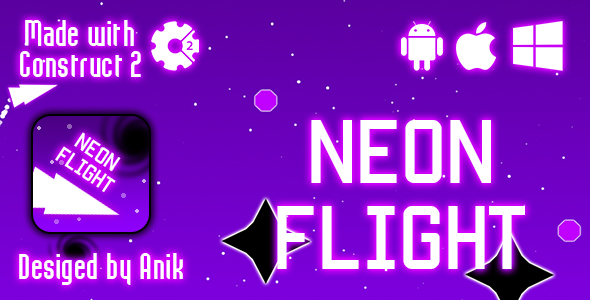 Neon Flight - HTML5 Game (CAPX) - CodeCanyon Item for Sale