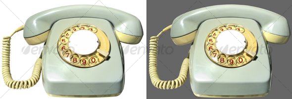 Antique telephone - Home & Office Isolated Objects
